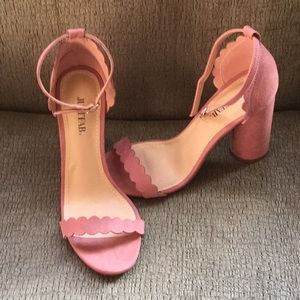 Rose/Blush Heels from JustFab! Size 8